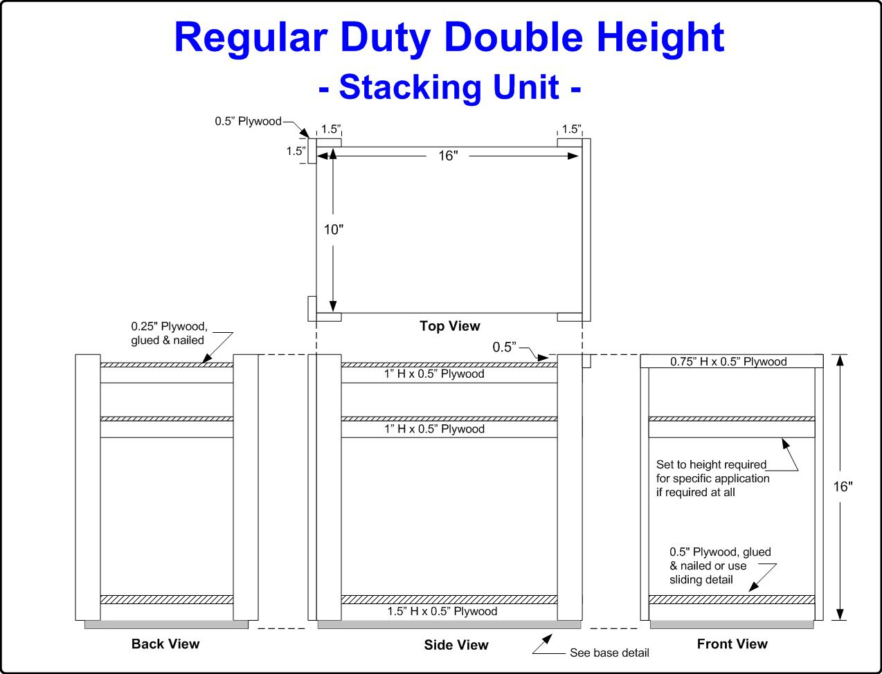 Diagram of a Double Height Crate