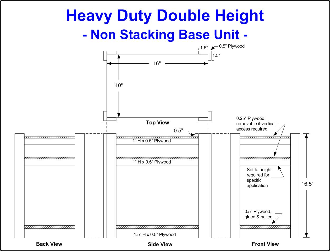 Diagram of an Heavy Duty Double-height Crate