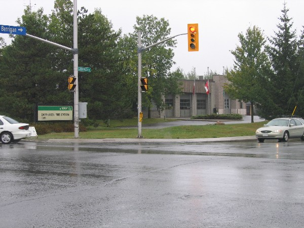 Barrhaven Fire Station from corner of Greenbank and Berrigan